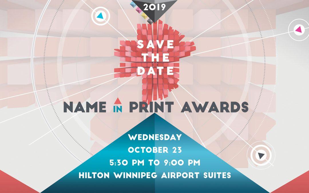 """2019 """"Name in Print"""" Awards"""